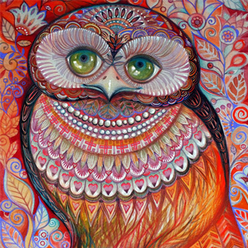 5D Diamond Painting Owl with Green Eyes Kit