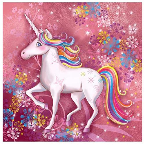 5D Diamond Painting Rainbow Mane Unicorn Kit