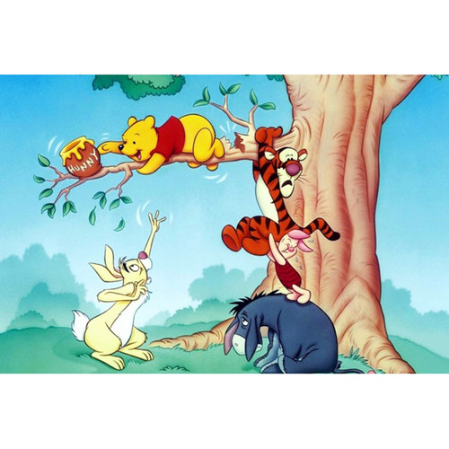 5D Diamond Painting Pooh in a Tree Kit
