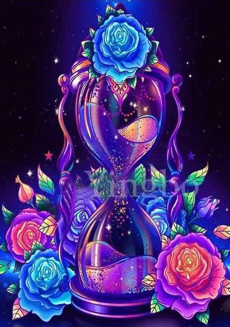 5D Diamond Painting Rose Hour Glass Kit