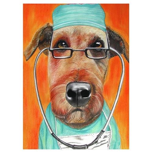 5D Diamond Painting Dog Surgeon Kit