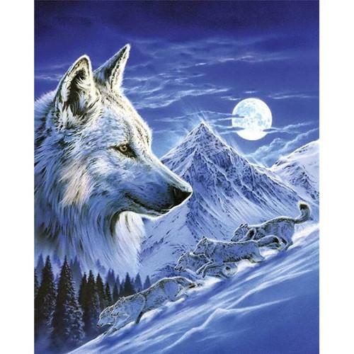 5D Diamond Painting Mountainside Wolves Kit