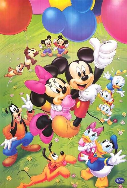 5D Diamond Painting Mickey and Minnie Balloons Kit