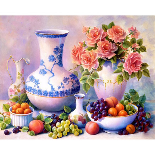 5D Diamond Painting Fruit Bowls and Vases Kit
