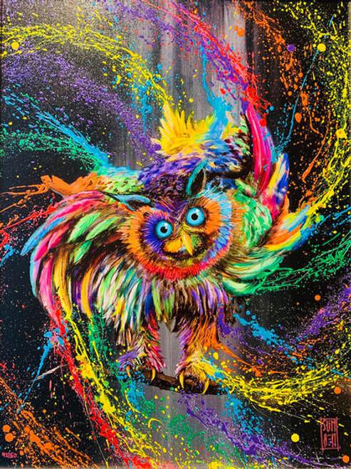 5D Diamond Painting Paint Splatter Owl Kit