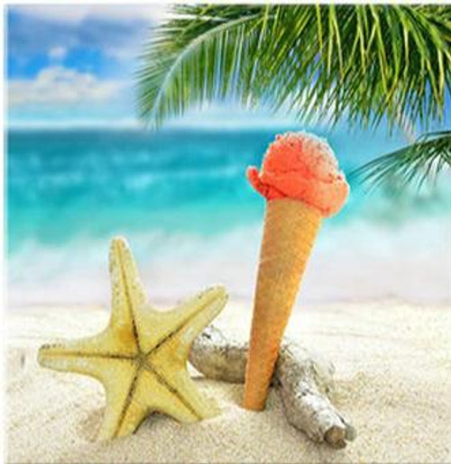 5D Diamond Painting Ice Cream Cone & Starfish Kit