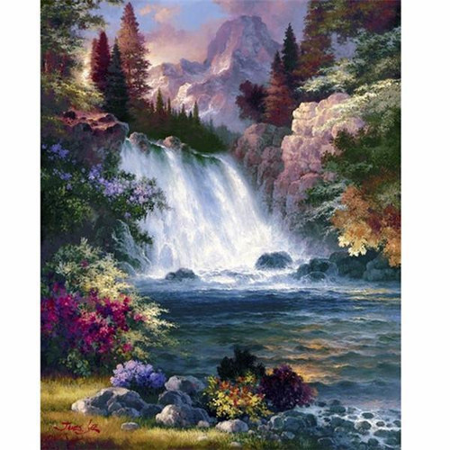5D Diamond Painting Waterfall Kit