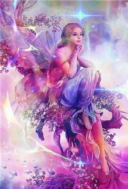 5D Diamond Painting Pink Fairy Kit