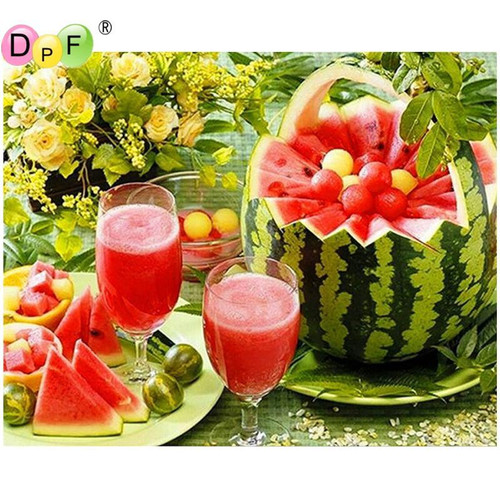 5D Diamond Painting Watermelon Picnic Kit