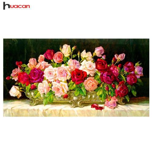 5D Diamond Painting Roses Bouquet Centerpiece Kit