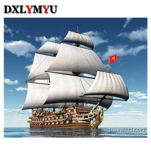 5D Diamond Painting Sailing Ship on the Sea kit