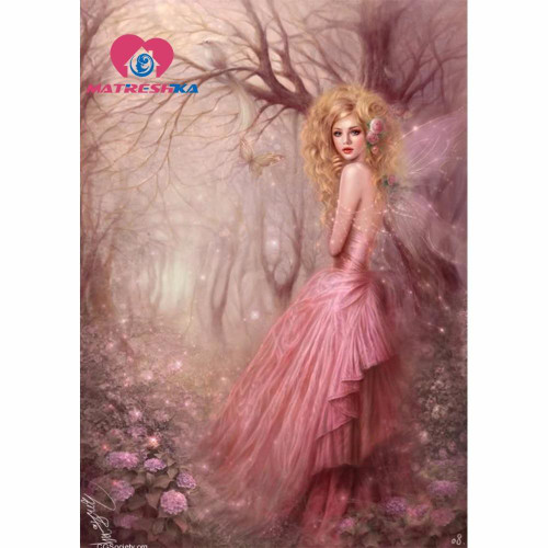 5D Diamond Painting Pink Dress Fairy Kit