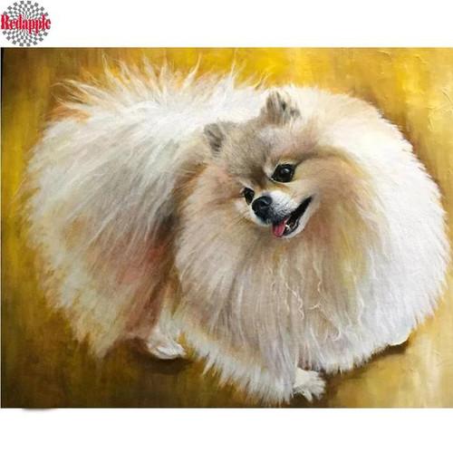 5D Diamond Painting Pomeranian Kit
