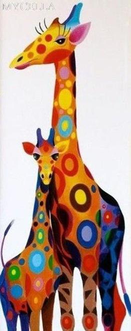 5D Diamond Painting Colorful Giraffes Kit