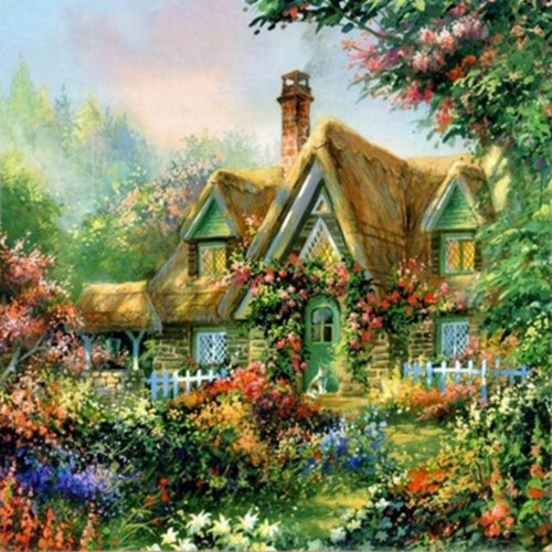 5D Diamond Painting Hidden Cottage