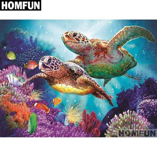 5D Diamond Painting Turtles Kit