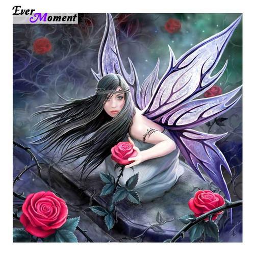 5D Diamond Painting Roses Fairy Kit