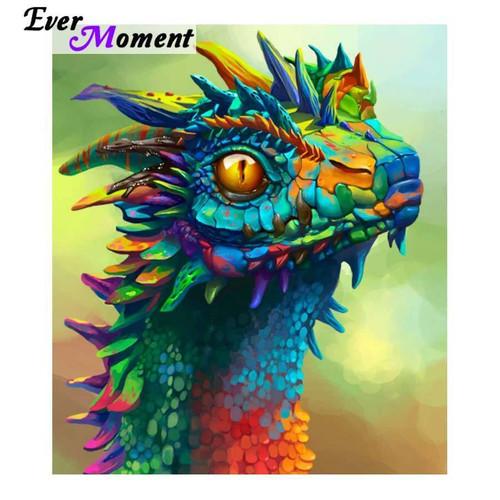 5D Diamond Painting Rainbow Dragon Kit