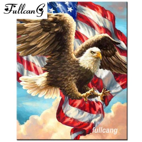 5D Diamond Painting American Freedom Eagle Kit