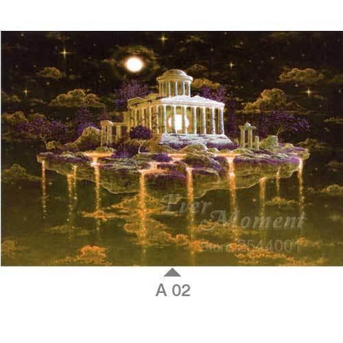 5D Diamond Painting Purple Mount Olympus Kit