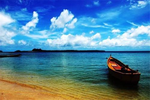 5D Diamond Painting Beach Boat Landscape Kit