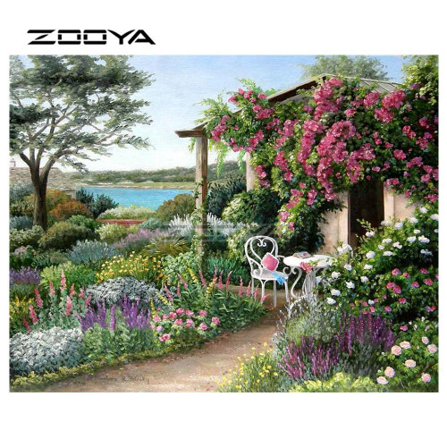 5D Diamond Painting Secluded Garden Home Kit