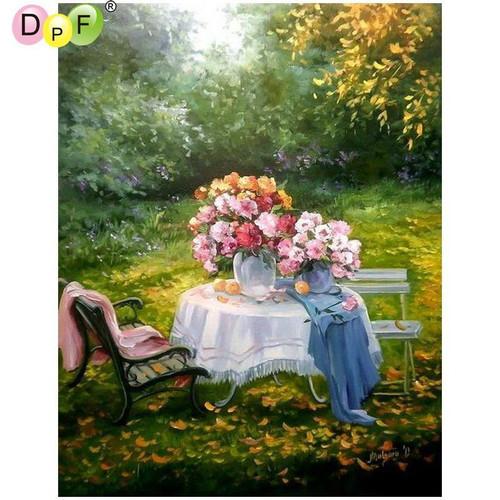5D Diamond Painting Table Flower Centerpiece Kit
