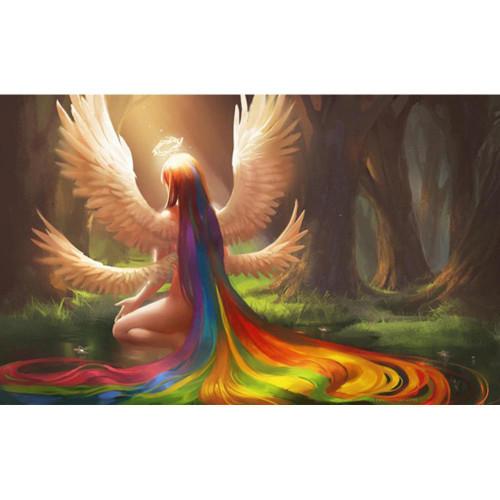 5D Diamond Painting Rainbow Haired Angel Kit