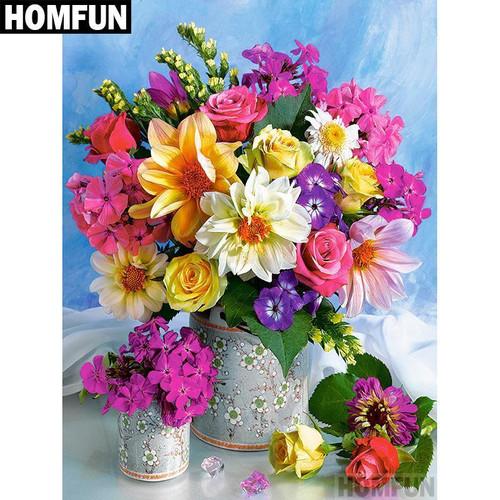 5D Diamond Painting Colorful Spring Bouquet Kit
