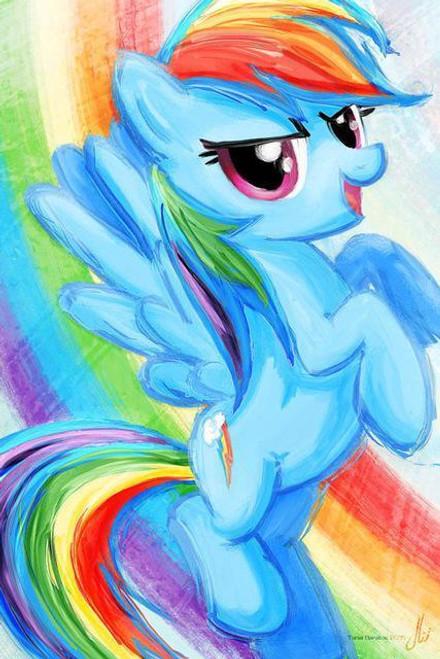 5D Diamond Painting My Little Pony Rainbow Dash Water Color Kit