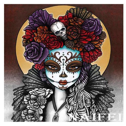 5D Diamond Painting Skulls and Roses Moon Kit