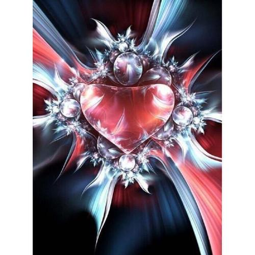 5D Diamond Painting Abstract Heart Kit