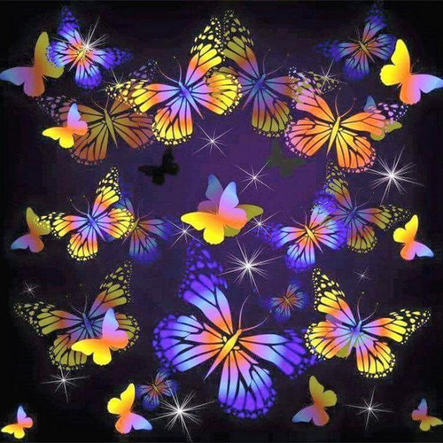 5D Diamond Painting Butterfly Collage Kit