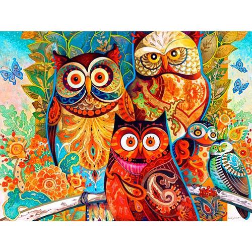 5D Diamond Painting Abstract Owls Kit