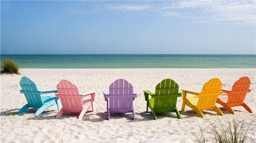 5D Diamond Painting Rainbow Beach Chairs Kit