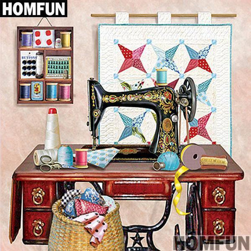 5D Diamond Painting Quilt Sewing Room Kit