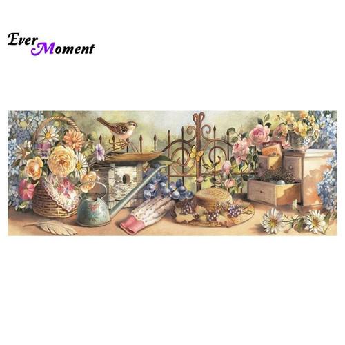 5D Diamond Painting Gardening Memories Kit
