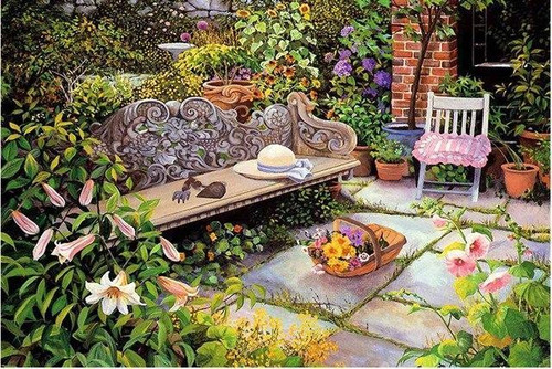 5D Diamond Painting Garden Bench Kit