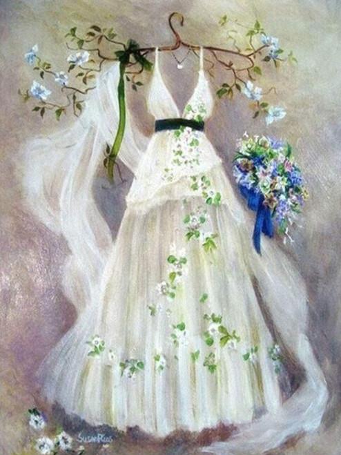 5D Diamond Painting Wedding Dress Kit