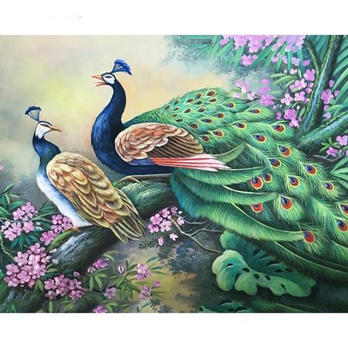 5D Diamond Painting Two Peacocks Kit