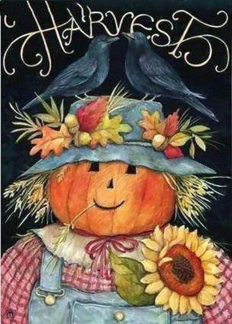 5D Diamond Painting Harvest Scarecrow Kit