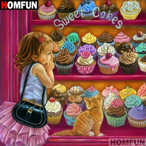 5D Diamond Painting Sweet Cakes Kit