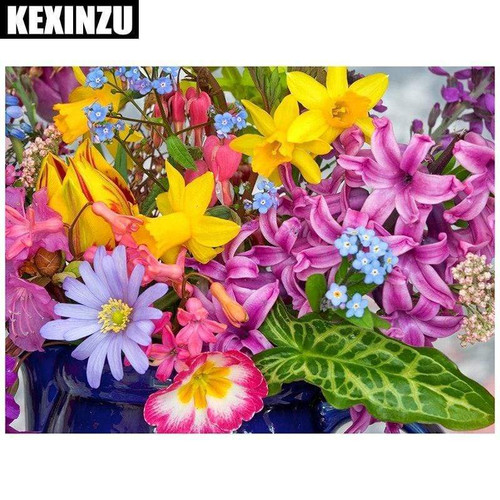 5D Diamond Painting Star Lilly Bouquet Kit