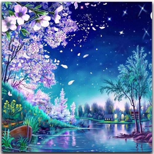 5D Diamond Painting Lavender Blossoms Kit