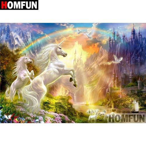 5D Diamond Painting Unicorn Rainbow Kit
