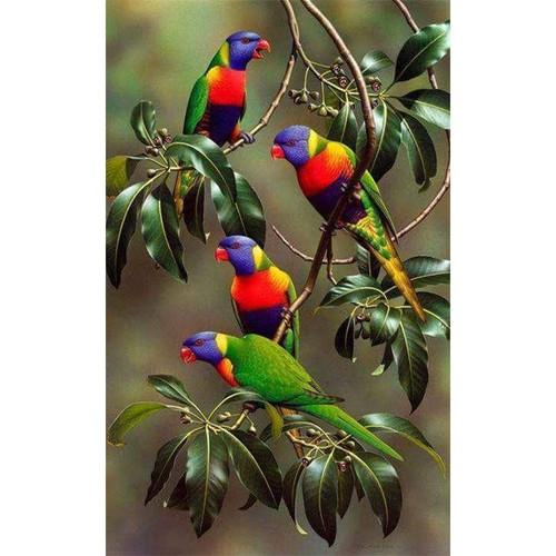 5D Diamond Painting Colorful Birds Kit