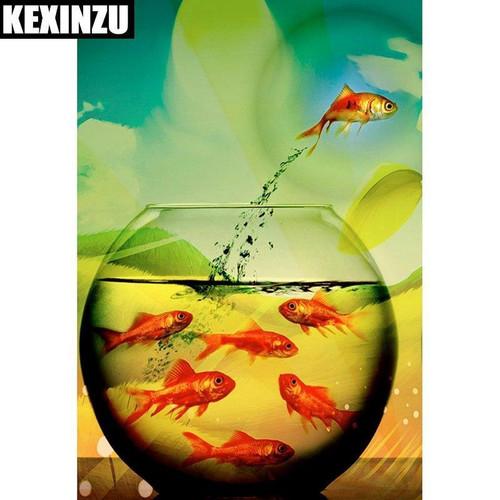 5D Diamond Painting Fish Escape Kit