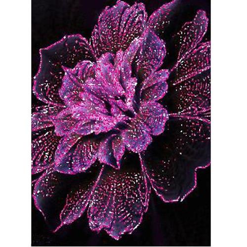 5D Diamond Painting Purple Speckled Flower Kit