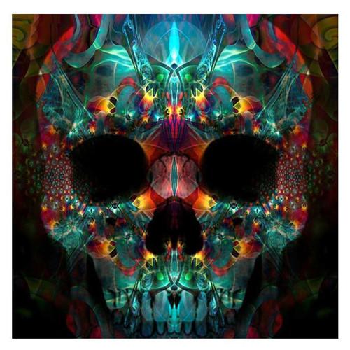 5D Diamond Painting Glowing Skull Kit