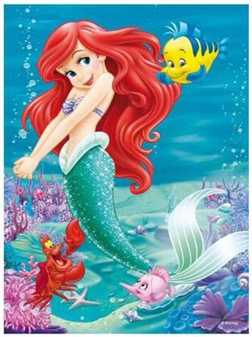 5D Diamond Painting Ariel & Flounder Kit